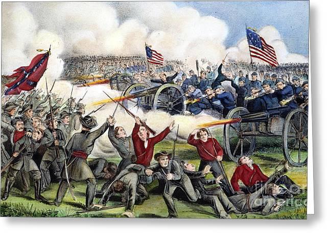 Civil War: Gettysburg, 1863 Greeting Card by Granger