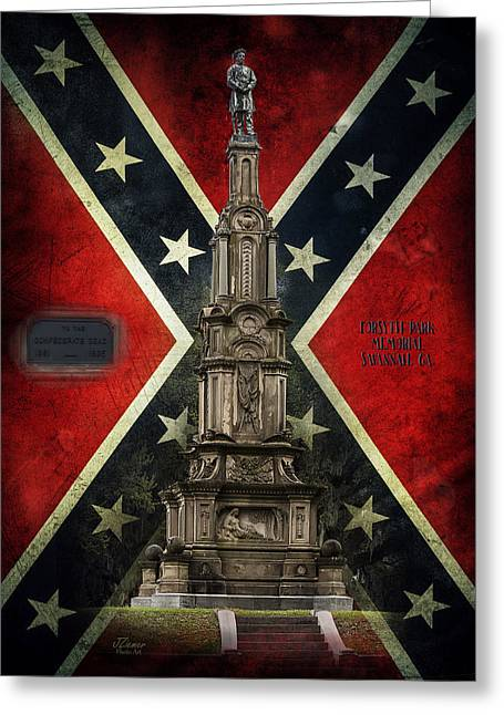Recently Sold -  - Confederate Flag Greeting Cards - Civil War Memorial Greeting Card by Jim Ziemer