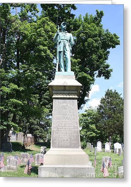Civil War Memorial To The Soldiers Of Sleepy Hollow  Greeting Card by John Telfer