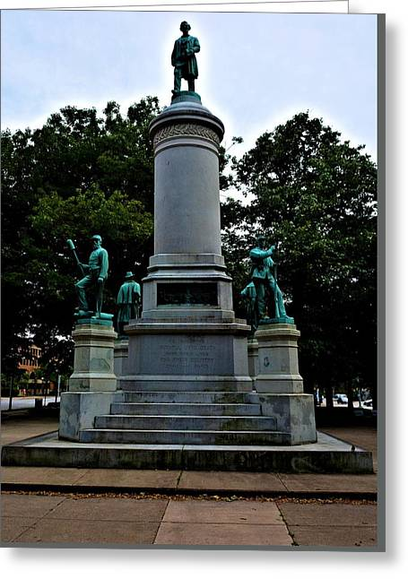 Civil Rights Greeting Cards - Civil War Monument Greeting Card by Richard Jenkins