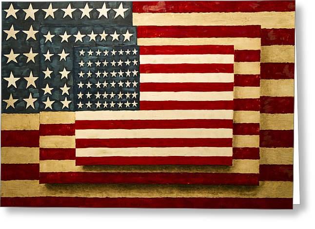 Civil Greeting Cards - Civil War Old Glory Greeting Card by David M Porter