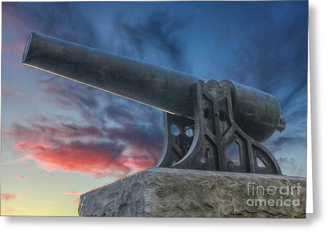 Stone Sentinel Greeting Cards - Civil War Parrott Cannon Greeting Card by Randy Steele
