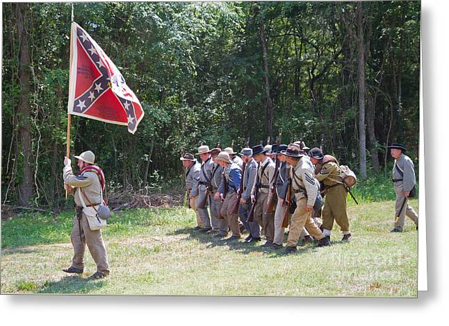 Confederate Flag Greeting Cards - Civil War Reenactment 6 Greeting Card by Kevin McCarthy