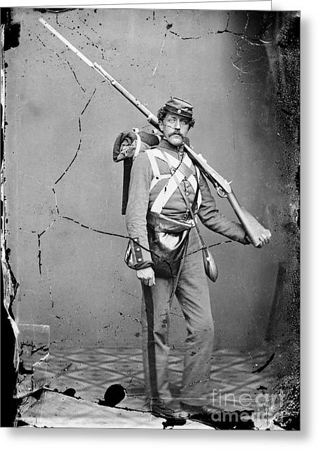 Bayonet Greeting Cards - Civil War: Union Soldier Greeting Card by Granger