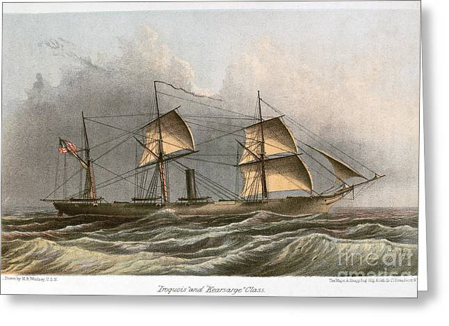 Civil War: Uss Kearsarge Greeting Card by Granger