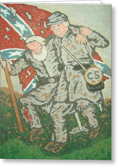Testament Greeting Cards - Civil War Wounded Greeting Card by Russell Kromminga