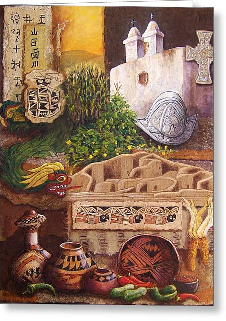 Indian Ruins Greeting Cards - Civilizations of Paquime Greeting Card by Candy Mayer