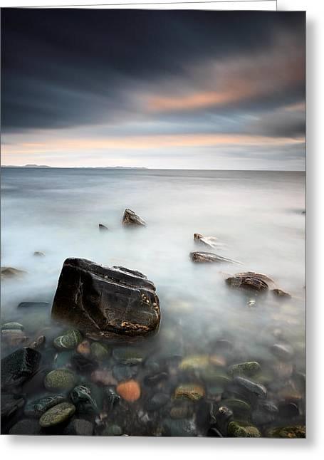 Clachan Coast Greeting Card by Grant Glendinning