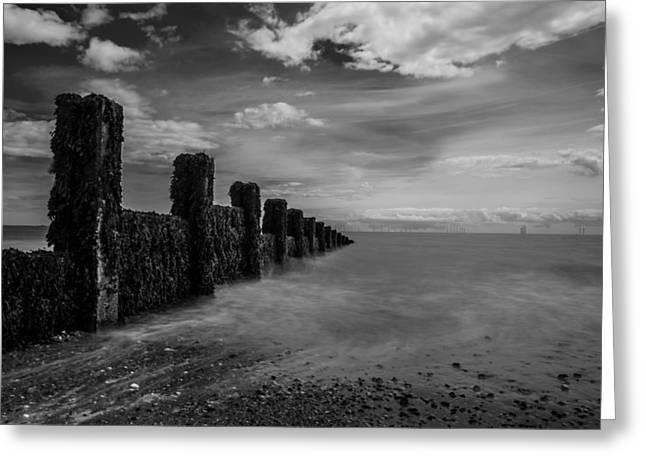 Clacton Beach Greeting Card by Martin Newman