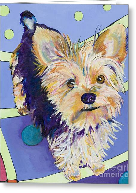 Pet Greeting Cards - Claire Greeting Card by Pat Saunders-White
