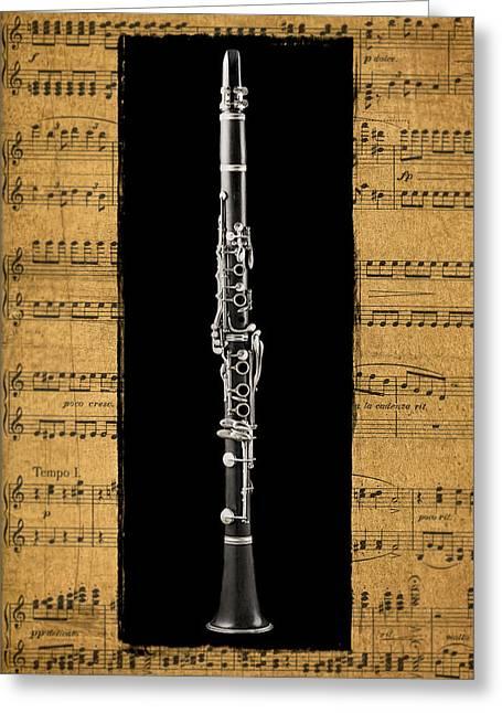 Clarinet Version 2 Greeting Card by Patrick Chuprina