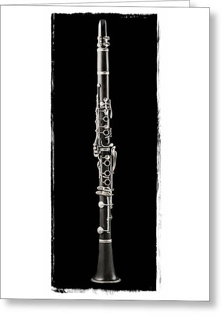 Clarinet Version 3 Greeting Card by Patrick Chuprina