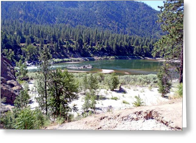Greeting Cards - Clark Fork River Missoula Montana Greeting Card by Kay Novy
