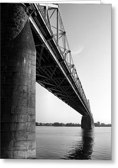 Rivers Ohio Greeting Cards - Clark Memorial Bridge II Greeting Card by Steven Ainsworth