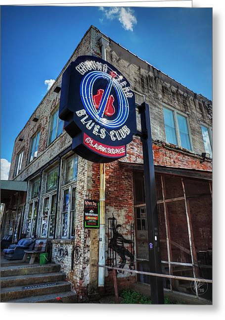 Clarksdale - Ground Zero Blues Club 001 Greeting Card by Lance Vaughn