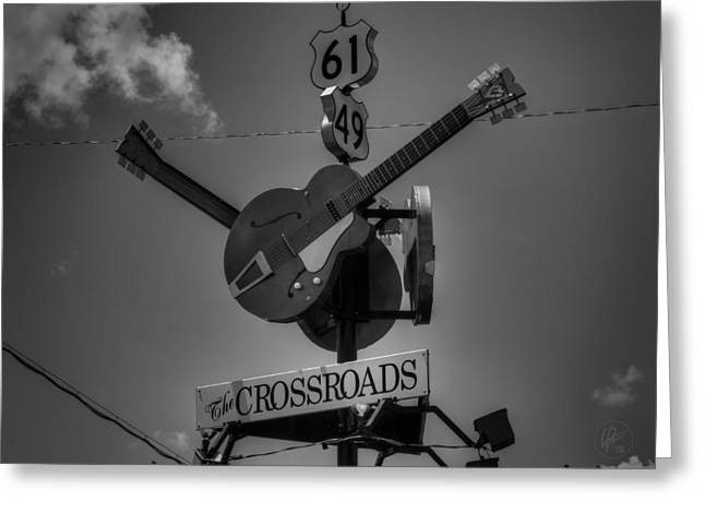 Music History Greeting Cards - Clarksdale - The Crossroads 001 BW Greeting Card by Lance Vaughn