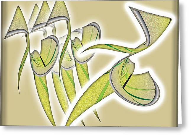 Beige Abstract Drawings Greeting Cards - Class Greeting Card by Iris Gelbart