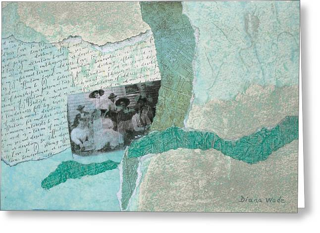 Genealogy Mixed Media Greeting Cards - Class of 1908 Greeting Card by Diana Wade