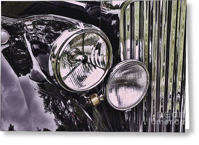 Collector Hood Ornament Greeting Cards - Classic 1951 Jaguar Mark V 2 Greeting Card by Allen Beatty