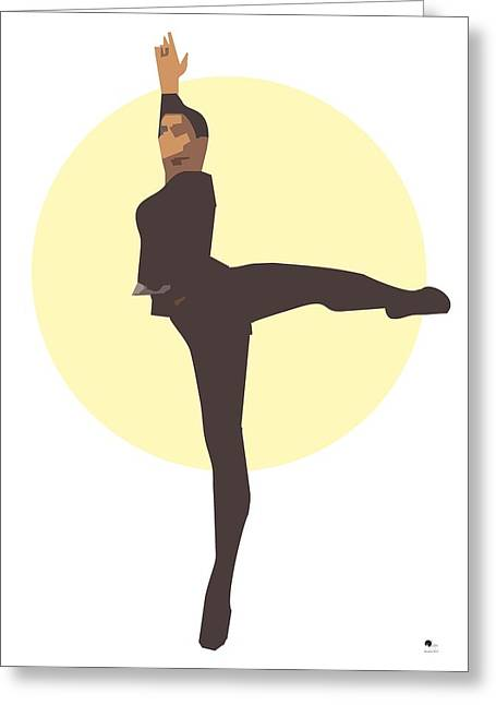 Tasteful Digital Greeting Cards - Classic Ballet Dancer Greeting Card by Joaquin Abella