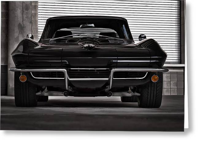 Chevy Digital Greeting Cards - Classic Black Greeting Card by Douglas Pittman