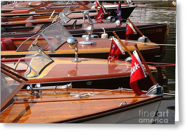 Classic Boats Greeting Card by Neil Zimmerman