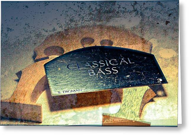 Double Bass Greeting Cards - Classic Bridge  Greeting Card by Steven  Digman