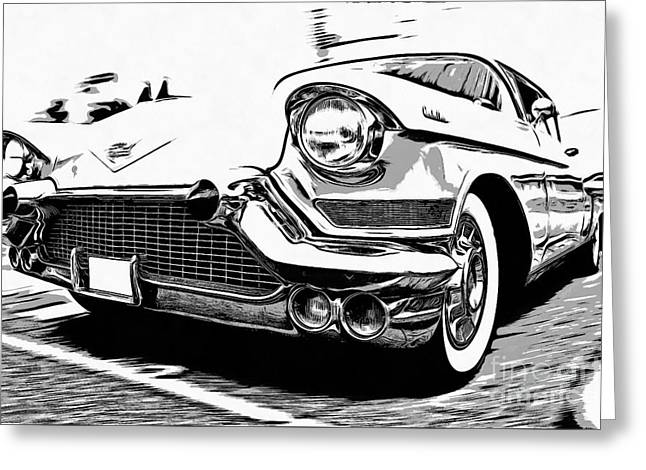 Classic Cadillac Greeting Card by Edward Fielding