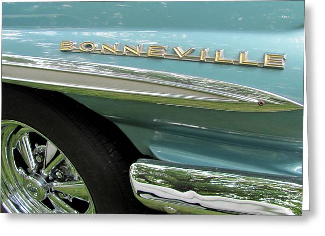 Chrome Grill Greeting Cards - Classic Car Bonneville 1 Greeting Card by Anita Burgermeister