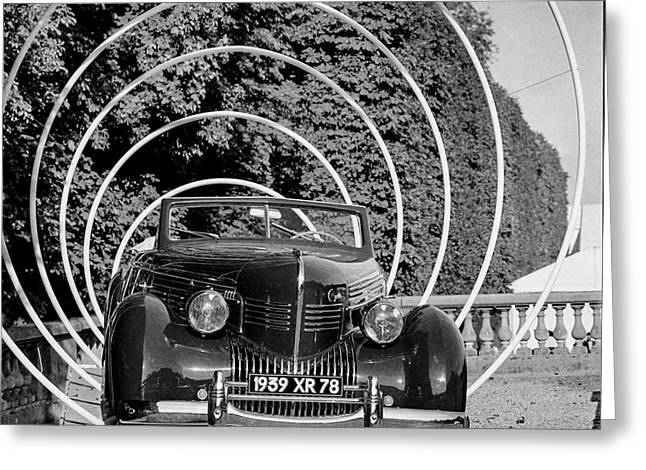 Trix Greeting Cards - Classic cars and the Collections  Greeting Card by Cyril Jayant