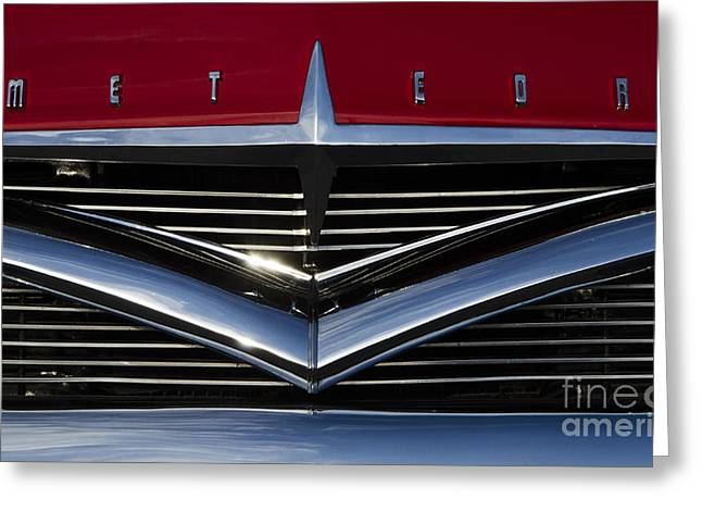 Car Grill Greeting Cards - Classic Cars Beauty Of Design 21 Greeting Card by Bob Christopher