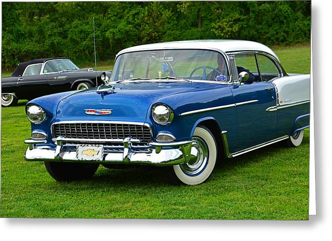 Caves Greeting Cards - Classic Chevy Belair Greeting Card by Mike Martin