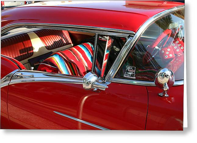 Flashy Greeting Cards - Classic Chevy Greeting Card by Carl Purcell