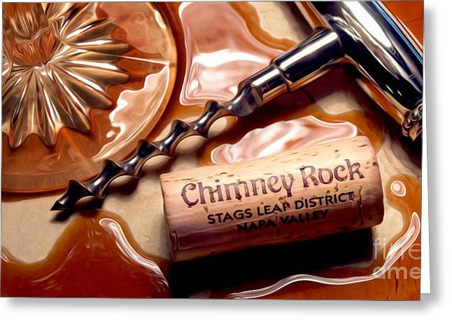 Wine Country. Greeting Cards - Classic Chimney Rock Greeting Card by Jon Neidert