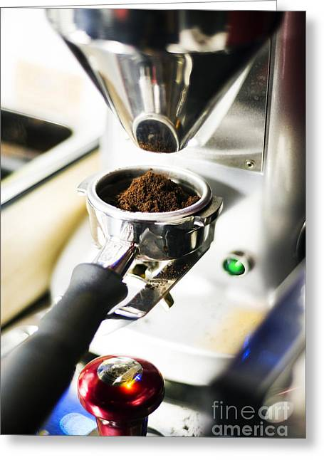 Italian Med Greeting Cards - Classic Coffee Bean Grinder Detail Greeting Card by Jacek Malipan