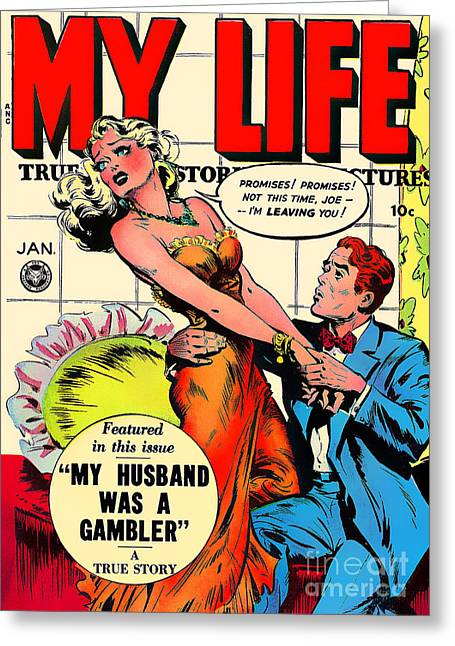 Husband Digital Art Greeting Cards - Classic Comic Book Cover My Life January Greeting Card by Wingsdomain Art and Photography