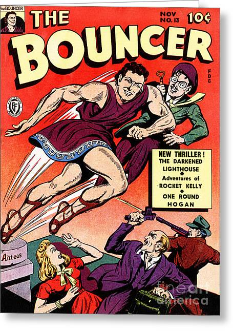 Bouncer Greeting Cards - Classic Comic Book Cover The Bouncer 13 Greeting Card by Wingsdomain Art and Photography