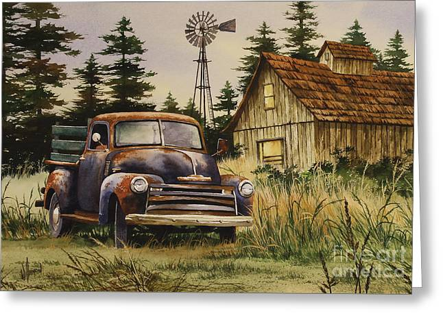 Country Framed Prints Greeting Cards - Classic Country Greeting Card by James Williamson