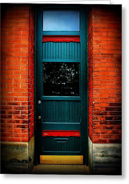 Classic Door Greeting Card by Perry Webster