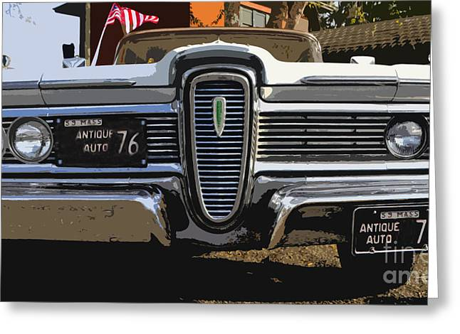 Antic Car Greeting Cards - Classic Edsel Greeting Card by David Lee Thompson