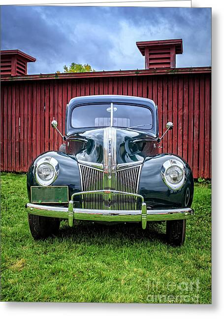 Metal Tires Greeting Cards - Classic Ford Canterbury Shaker Village Greeting Card by Edward Fielding