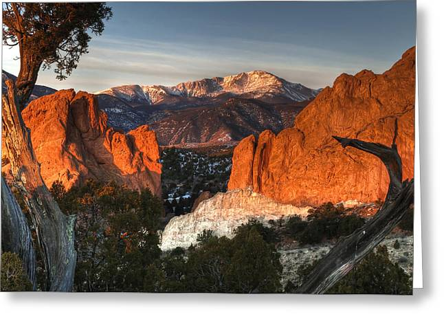 Garden Of The Gods Greeting Cards - Classic Garden of the Gods Greeting Card by Mike Berenson