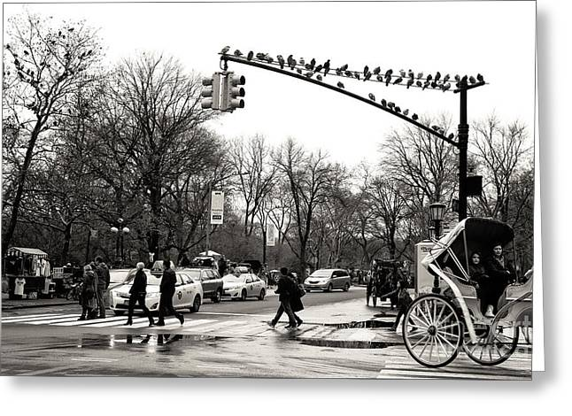 Classic Grand Army Plaza Greeting Card by John Rizzuto