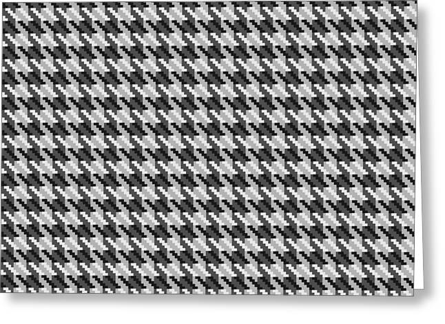 Hounds Tooth Greeting Cards - Classic Grey Houndstooth Check Greeting Card by Jane McIlroy