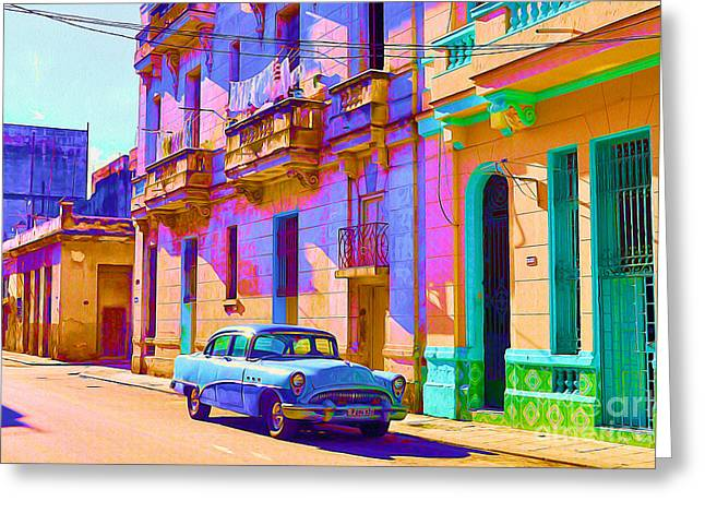 Old Door Mixed Media Greeting Cards - Classic Havana Greeting Card by Chris Andruskiewicz