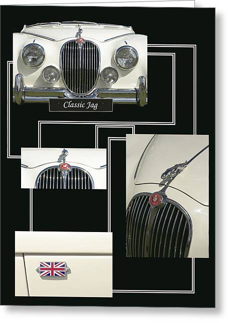 Best Sellers -  - Component Digital Art Greeting Cards - Classic Jag Greeting Card by Malc McHugh
