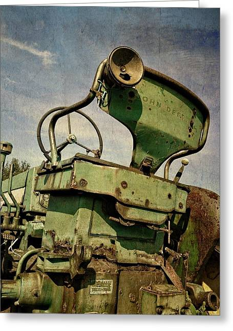 Classic John Deere 3.0 Greeting Card by Michelle Calkins