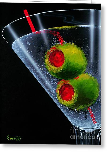 Classic Martini Greeting Card by Michael Godard
