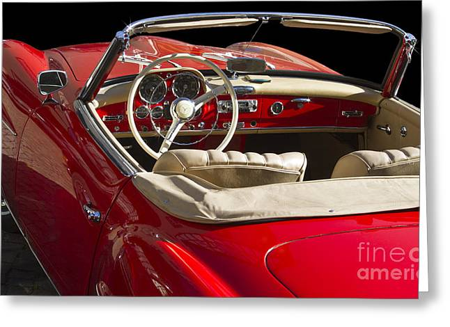 Representative Greeting Cards - Classic Mercedes Benz 190 SL 1960 Greeting Card by Heiko Koehrer-Wagner