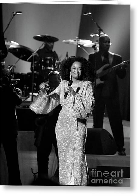 Diana Ross Greeting Cards - Classic Miss Ross Greeting Card by Enid Farber